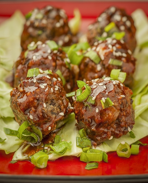Tempeh Asian Meatballs