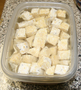 Tempeh in Salt Bath